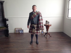 Scottish Kyle on set