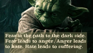 Yoda Fear leads to suffering quote card kyle mcmahon