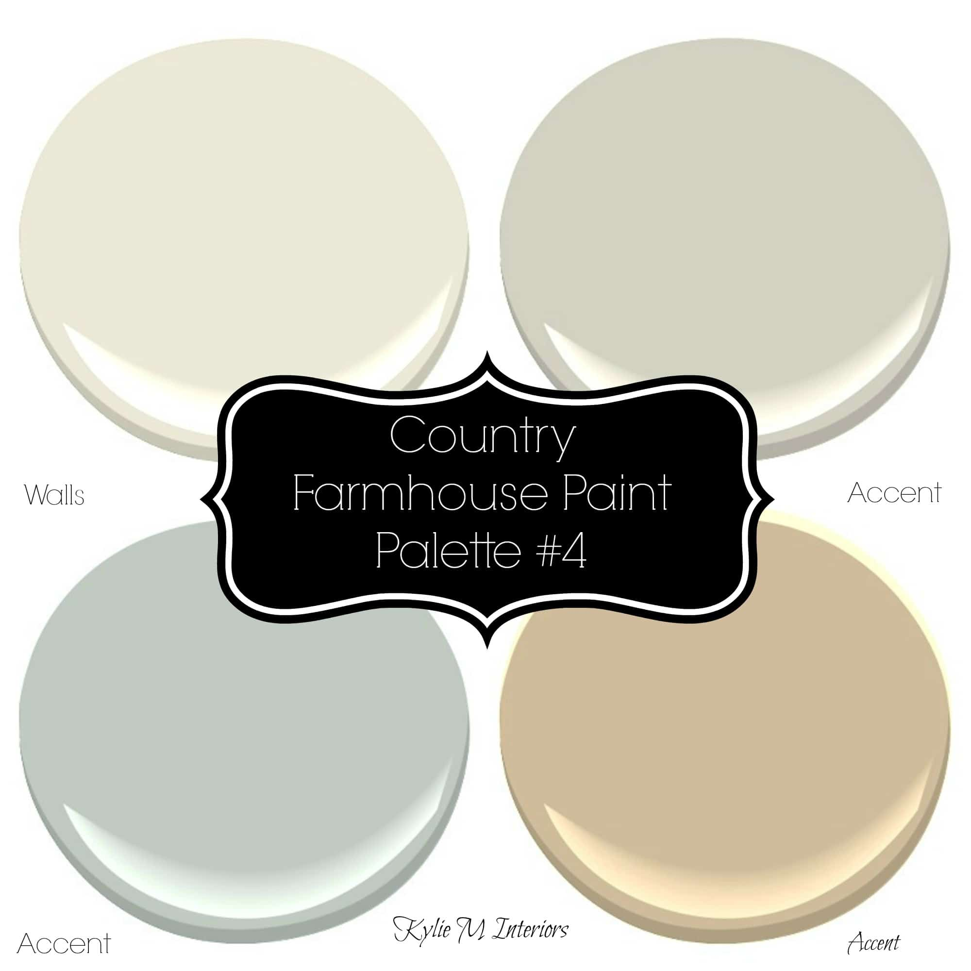Country farmhouse style paint palette with sherwin for Sherwin and williams paint
