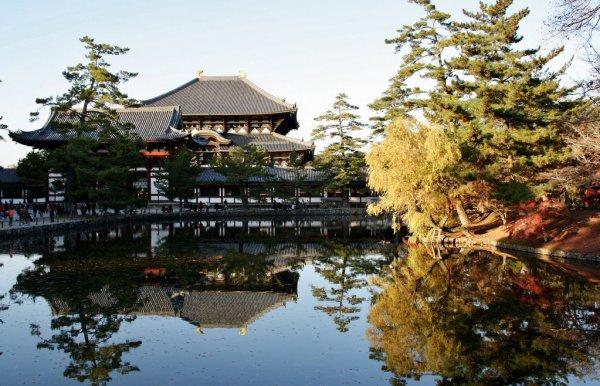 todaiji_temple_and_kagami_ike_nara_park
