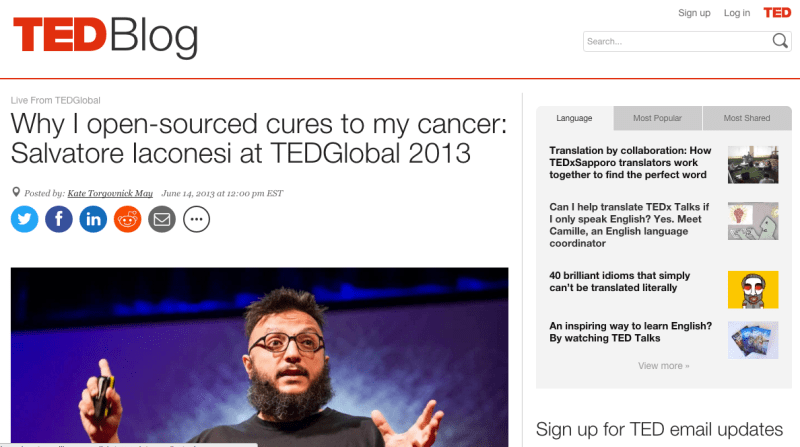 La Cura on TED Global