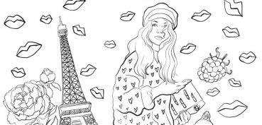 coloriage-gratuites-pour-adultes-parisienne-mademoiselle-stef