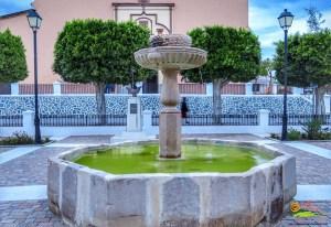 Ugíjar - Fuente de la Plaza de los Mártires de La Alpujarra - Más conocida como Placeta de Las Flores - Autor José A.Vela