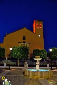 Ugíjar - Iglesia y Placeta de las Flores de noche - Autor Antonio Quintana Bueso