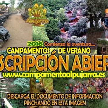 ¡Campamentos de Verano 2016 en La Alpujarra!