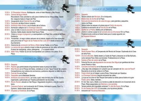 Lanjarón - Programa Fiestas de San Juan 2016 - 2