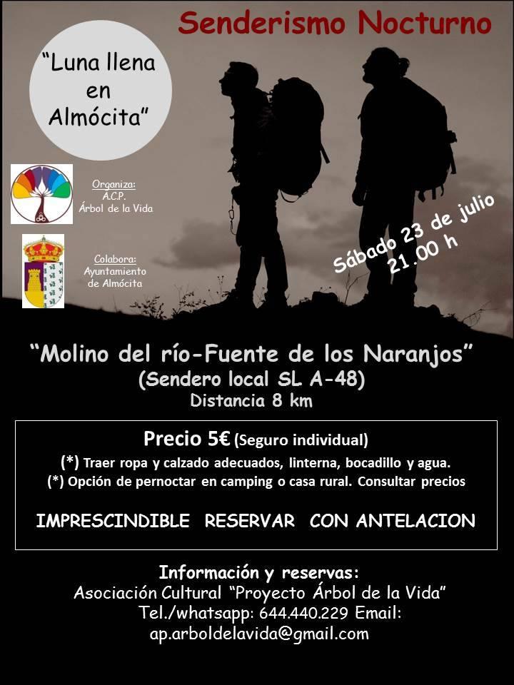 Almócita - Senderismo Nocturno - Luna llena en Almócita