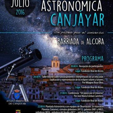 Canjáyar – VIII Jornadas Astronómicas Barriada de Alcora