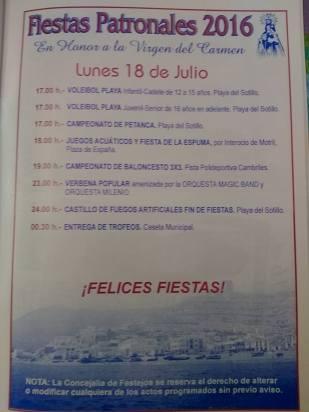 Castell de Ferro - Fiestas Patronales de la Virgen del Carmen 2016 - 7