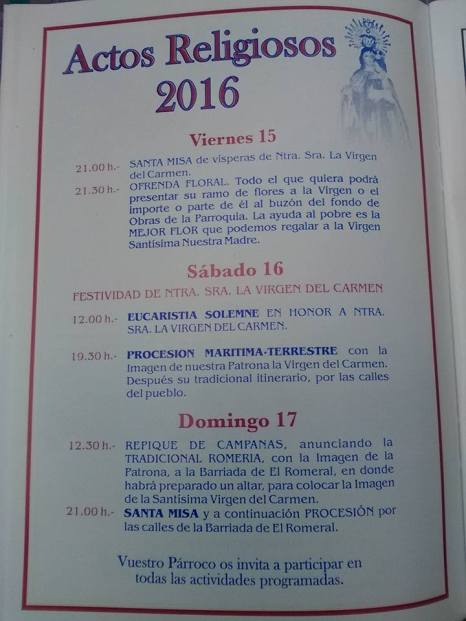 Castell de Ferro - Fiestas Patronales de la Virgen del Carmen 2016 - 9