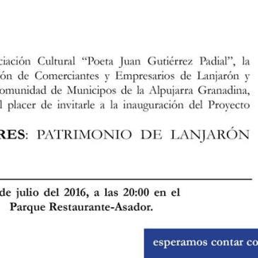 Lanjarón – Presentación Pilares: Patrimonio de Lanjarón