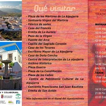 Programa – XXXV Festival de Música Tradicional de La Alpujarra – Ugíjar 2016