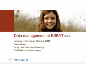 Data Management at ESBATech