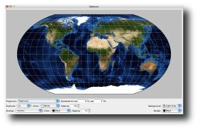 Global Map Projector. Software gratuito de la NASA