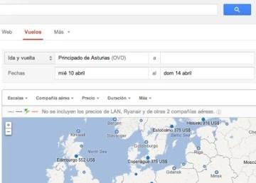 Google Flights llega a Europa