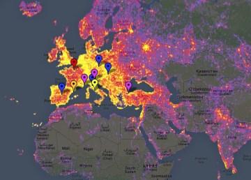 Mapa interactivo de los lugares más fotografiados del mundo 3