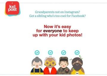 Kidpost envía las actualizaciones de Facebook a los familiares que no usan Facebook 1
