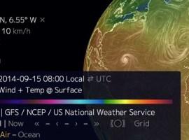 Mapa interactivo con el clima de cualquier punto de la Tierra en tiempo real