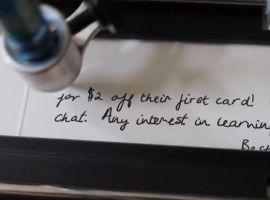 Los robots que escriben cartas