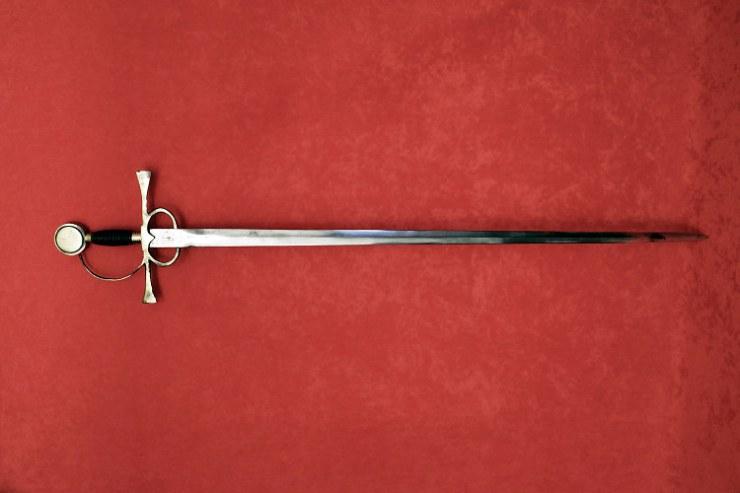 John Downie escoces lucho España Napoleon esgrimiendo espada Pizarro