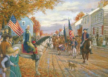 Washington revista a las milicias en Carlisle (Gallon)