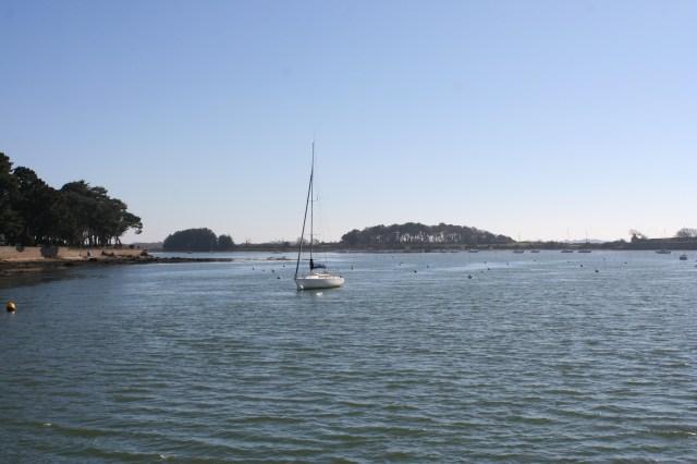 naviguer en solo - entre Vannes et l'île d'Arz