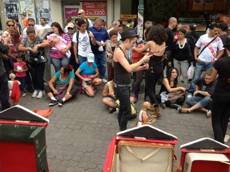 Arte callejero en la Plaza de la Cultura