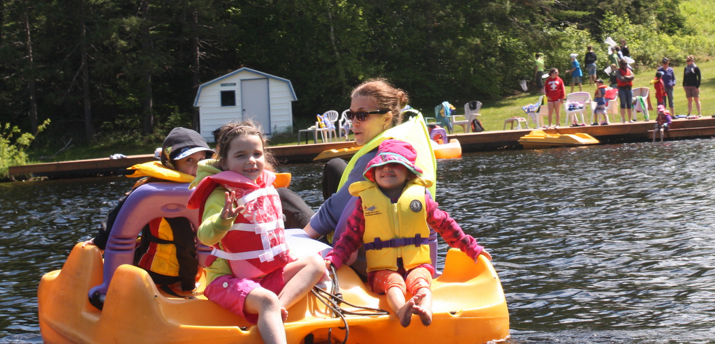 pedalo on lake for quality family time