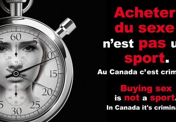 Communiqué: « Acheter du sexe n'est pas un sport » Campagne de sensibilisation visant à contrer l'exploitation sexuelle