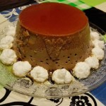 Flan de moka con merengue
