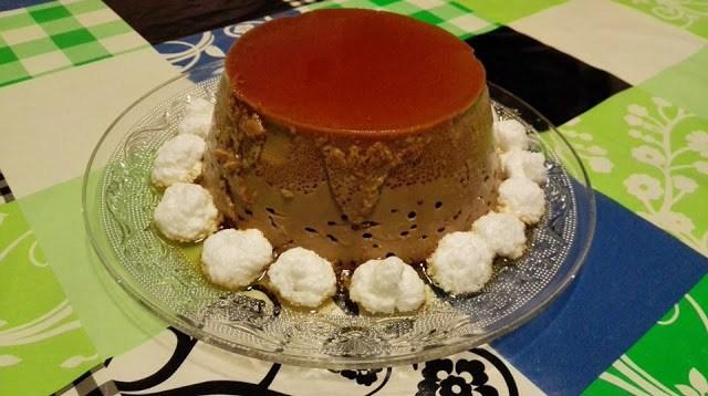 flan de moka con merengue cocina facil