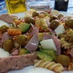 Ensalada de pasta vinagreta para tupper