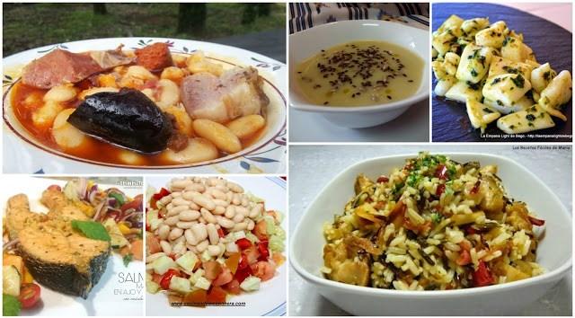 Diez propuestas para menu semanal cocina facil