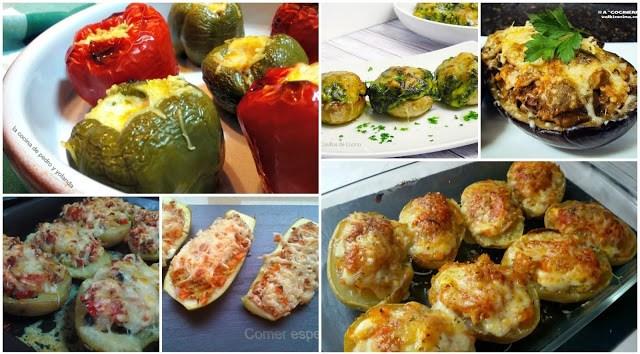 Seis recetas de verduras rellenas gratinadas