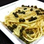 Espaguetis con alcaparras