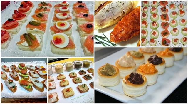 Montaditos, tostas y canapés variados