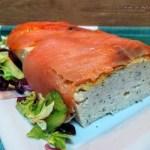 Pastel de salmón en microondas