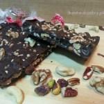 Tableta de chocolate y frutos secos