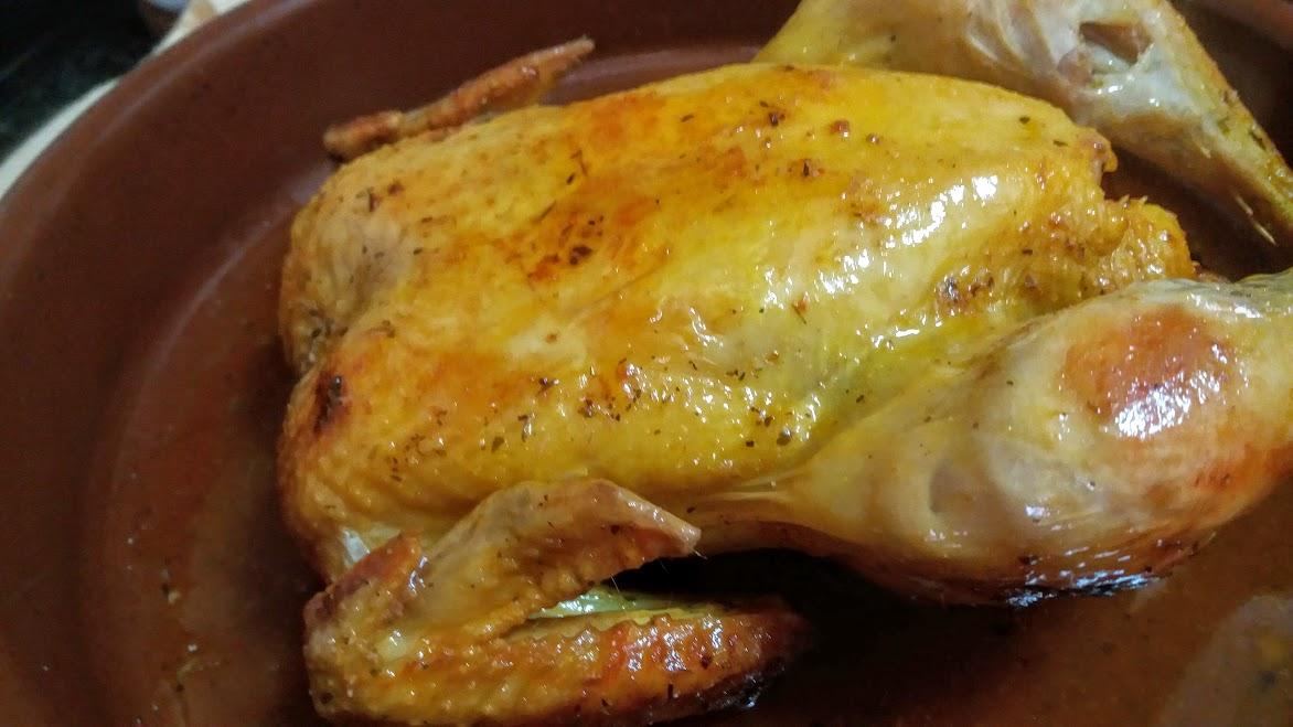 Pollo asado en bolsa la cocina de pedro y yolanda for Cocinar un pollo entero