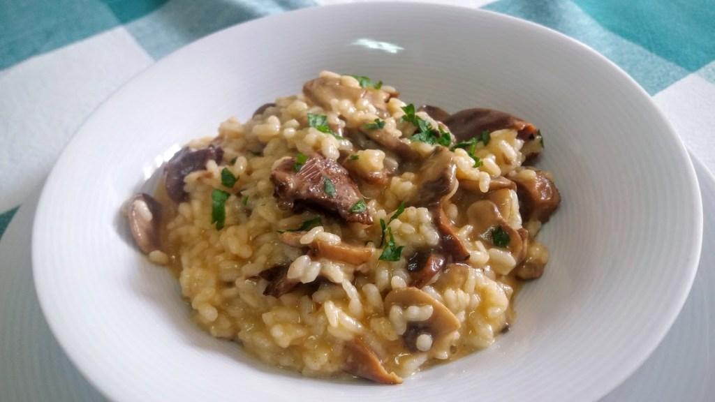 risotto con setas y champiñones facil