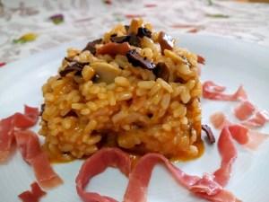 risotto trufado con setas y jamon 3
