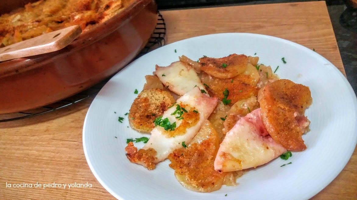 Cazuela de calamares al horno la cocina de pedro y yolanda for Cocina de pedro y yolanda