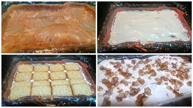 elaboración pastel de salmón