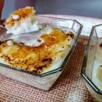 Arroz con leche y azúcar tostada