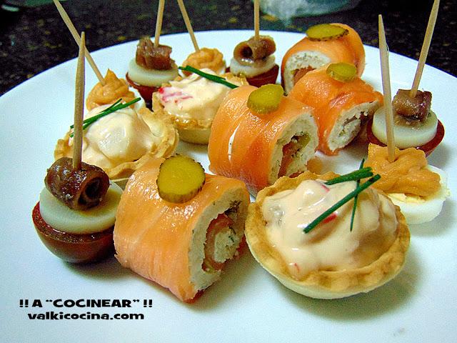 Canap s variados para fiestas la cocina de pedro y yolanda - Como hacer aperitivos frios ...