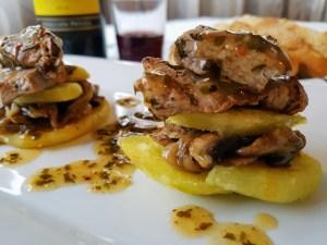 pincho de ternera con salsa chimichurri