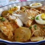 Bacalao al horno con patatas bacalhau no forno