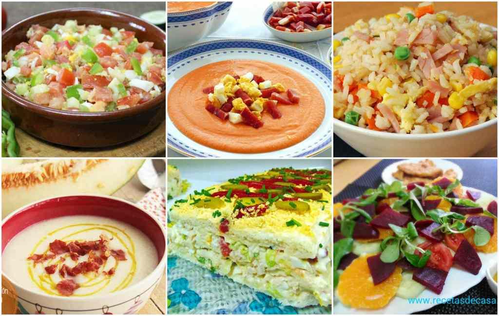 Recetas de verano men semanal 58 la cocina de pedro y for Menu semanal verano