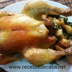 Pollo al horno con brandy