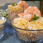 Ensalada de arroz y langostinos MÁS FÁCIL IMPOSIBLE
